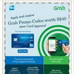 $10 off 4x Grab Rides, up to 8000 KrisFlyer Miles* with an American Express: Singapore Airlines KrisFlyer Credit Card