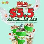 Milo Smoothie for $5.50 at Boost Juice Bars