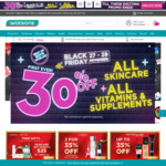 30% off All Skincare, Vitamins & Supplements at Watsons