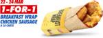 1 for 1 Breakfast Wrap Chicken Sausage A La Carte at McDonald's via App