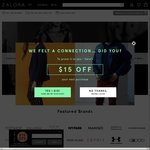 15% off Storewide at Zalora (Minimum Spend $120)