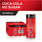 Coca-Cola Can Drink - No Sugar 12x 320ml for $6.25 from Fairprice
