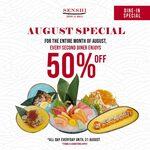50% off for Second Diner A La Carte Buffet at Senshi Sushi & Grill