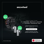 Win a Huawei Watch 3 Active & Freebuds Pro from Anywheel