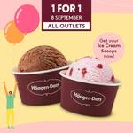 1 for 1 Scoops at Häagen-Dazs