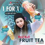 1 for 1 Red Bull Fruit Tea at LiHO