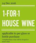 1-for-1 House Wine at Marché Mövenpick