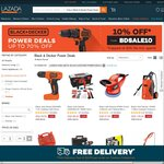 Up to 70% Black & Decker Plus Extra 10% off with Promo Code at Lazada
