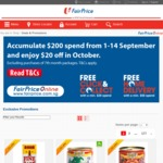 Spend $200 from Sept 1 to Sept 14 at FairPrice Online and Get $20 off in October