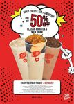 Buy a Cheese Tea/Smoothie, Get 50% off Classic Milk Tea/Milk Drinks at LiHO (Monday 2nd to Wednesday 4th October, 2pm to 5pm)