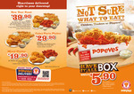 Popeyes Coupons - Valid till 29/1: Meals from $5.90