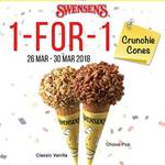 1 for 1 Crunchie Cones at Swensen's via App (Monday 26th to Friday 30th March)