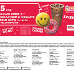 2 Regular Donuts & Regular Iced Chocolate or Cold Brew for $5 (U.P. $7.60) at Dunkin' Donuts