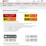 $55 off ($700 Min Spend), $75 off ($1100 Min Spend) or $105 off ($1600 Min Spend) at BEST Denki