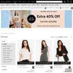 Extra 40% off Selected Outlet Items ($100 Minimum Spend) at Zalora