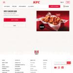 Original Recipe or Spicy Chicken Skin for $3.60 at KFC