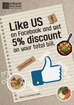 5% Off Total Bill at Baro Baro (with Facebook Like)