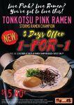 1-for-1 Pink Tonkotsu Ramen ($15.80+ for 2) at Ramen Champion (Bugis+)