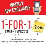 1 for 1 Sides at Swensen's via App (Monday 5th to Friday 9th March)