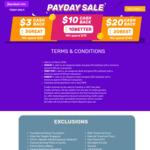 $3 ($25 Minimum Spend), $10 ($75 Minimum Spend) or $20 ($140 Minimum Spend) Cashback at Fave [previously Groupon]