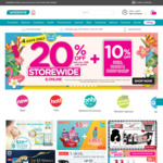 20% off Storewide ($38 Min Spend) + 10% off Skin, Hand & Body Care at Watsons
