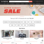 50% off Sitewide (up to $20) at Vaniday