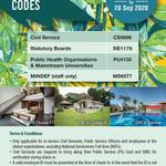 New Priority Code for Civil Servants for Civil Service Club (CSC) chalets Changi I, II, Loyang booking