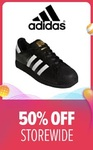 50% off Storewide + $5 off ($70 Min Spend) at adidas via Lazada [12am to 2am]