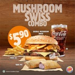 Double Mushroom Swiss Combo for $5.90 at Burger King