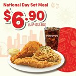National Day Set Meal for $6.90 (U.P. $12.50) at Popeyes