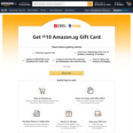 Bonus $10 Gift Card When You Spend $150 at Amazon SG (DBS/POSB Cards, Excludes Visa Credit Cards)
