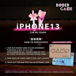 Win an Apple iPhone 13 or 1 of 15 Squid Game Red Guard Jumpsuits from Bober Tea