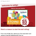 $5 Capitaland Voucher with First Eatigo Booking