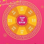 5%, 8%, 12%, 18%, $1.80, $8, $12 or $18 off Sitewide at Fave (prevously Groupon) via Daily Spin The Wheel [App]