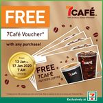Free 7Cafe Voucher with Any Purchase at 7-Eleven