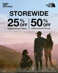 50% off Regular Priced Footwear and 25% off All Other Regular Priced Items at The North Face