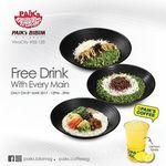 Free Drink with Every Main Purchased at Paik's Biibim (12pm to 3pm, VivoCity)