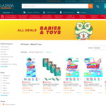 $10 off ($20 Minimum Spend, up to 50% off) Selected Babies & Toys Items at Lazada [7pm to 10pm]