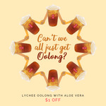 $1 off Lychee Oolong with Aloe Vera at Gong Cha (Ngee Ann City & Tan Tock Seng Hospital)