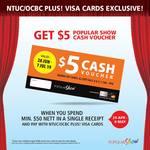 Bonus $5 Popular Show Voucher When Spending $50 or More at Popular Bookstore (NTUC/OCBC Plus! Visa Cards)