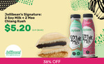 2x Signature Soy Milk + 2x Mee Chaing Kueh for $5.20 (U.P. $8.40) at Jollibean via Fave