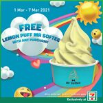 Free Lemon Puff Mr Softee with Any Purchase at 7-Eleven