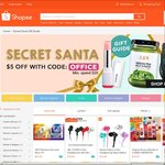 $5 Off $20 Minimum Spend in 'Secret Santa Gift Guide' Section at Shopee