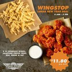 6pc Boneless Wings, Jalapeno Cheese Fries, Regular Drink & Dip for $11.80 (U.P. $17) at Wingstop