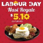 Nasi Royale for $5.10 (U.P. $6.90) at CRAVE Nasi Lemak & Teh Tarik