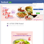 $5 Dish Deals on Weekdays after 5pm at Food Republic (Wisma Atria)