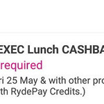 47% Cashback on RydeX, RydeXL and RydeEXEC Rides with RYDE (12pm to 3pm)