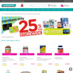 25% off Store-wide and Online with Min $38 Spend  + POSB 6% Cash Rebate (Members Only) @ Watsons