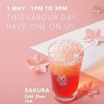 Free Small Sakura Cold Bew Tea at The Coffee Bean & Tea Leaf