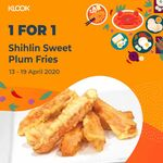 1 for 1 Medium Sweet Plum Potato Fries ($3) at Shihlin Taiwan Street Snacks via Klook